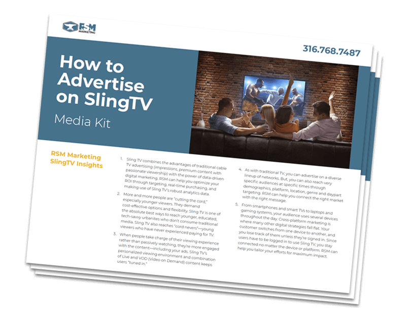 RSM Marketing Sling TV Media Kit